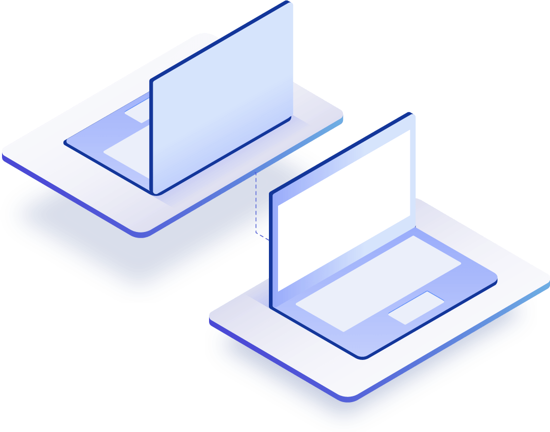 laptop lumina albastra