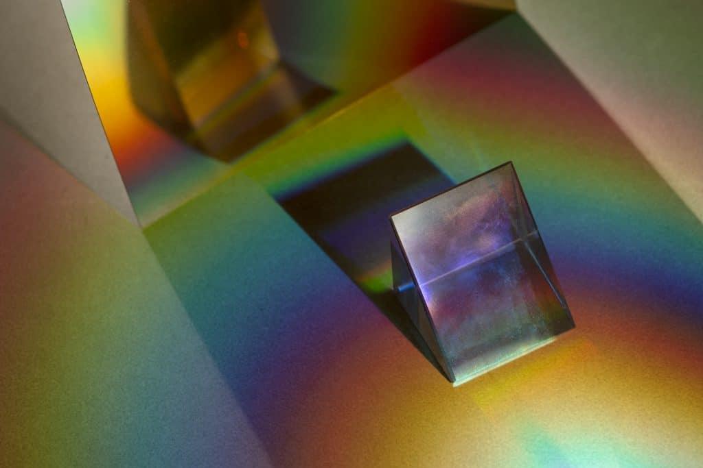light leak effect triangular prism wallpaper